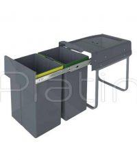 سطل زباله دو مخزنه هایلوکس پلاتین مدل 3653